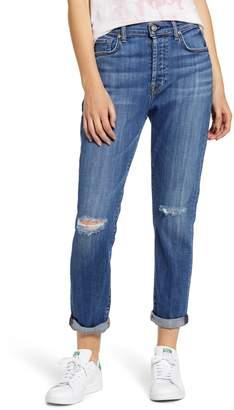 7 For All Mankind Josefina High Waist Ripped Crop Jeans