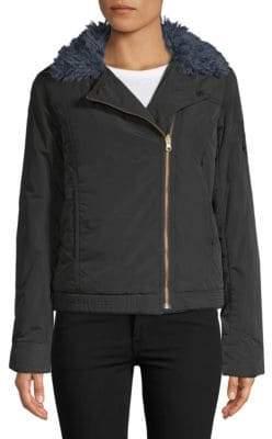 Zadig & Voltaire Kerem Faux Fur-Trimmed Jacket
