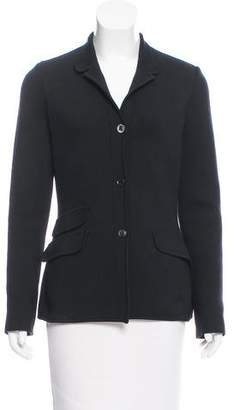 Loro Piana Knit Stand Collar Jacket