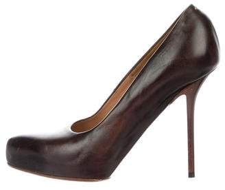 Maison Margiela Leather Pointed-Toe Pumps