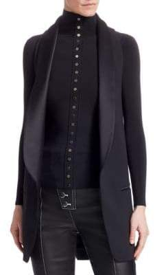 Alexander Wang Tie-Back Shawl Collar Vest