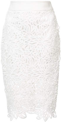 Milly lace pencil skirt