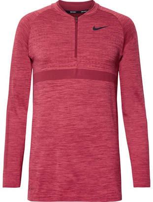 Nike Mélange Stretch-Knit Half-Zip Top