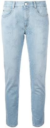 Stella McCartney fringed stars boyfriend jeans
