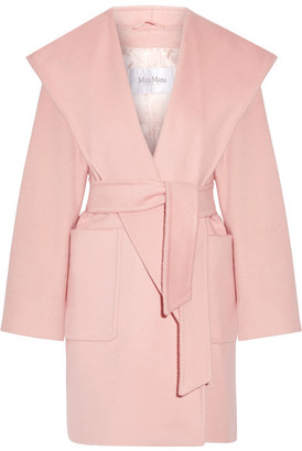Max Mara Morfeo Hooded Camel Hair Coat - Pastel pink