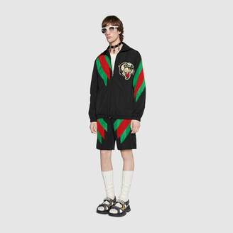 Gucci Nylon shorts with Web intarsia