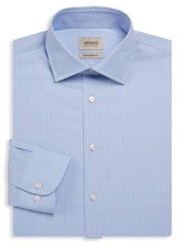 Giorgio Armani Multi-Plaid Cotton Dress Shirt