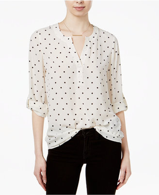 Maison Jules Polka-Dot Roll-Tab Blouse, Only at Macy's $59.50 thestylecure.com