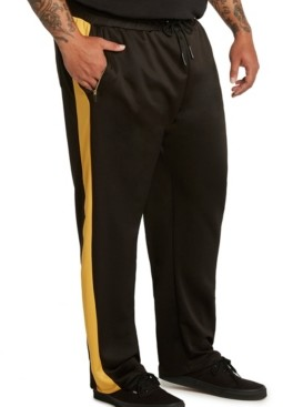 Mvp Collections By Mo Vaughn Productions Mvp Collections Men's Big & Tall Side Stripe Track Pants