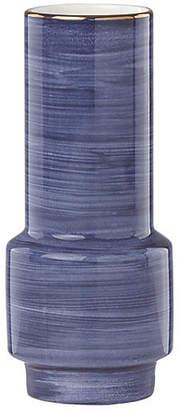 """Kate Spade 5"""" Charles Lane Wide Bud Vase - Indigo"""