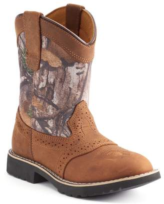 Itasca Real Tree Camo Boys' Leather Western Boots
