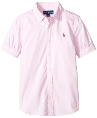 Polo Ralph Lauren Solid Oxford Shirt Girl's Long Sleeve Button Up