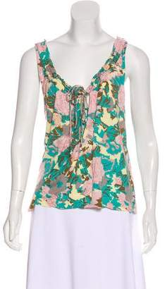 Joie Sleeveless Printed Top