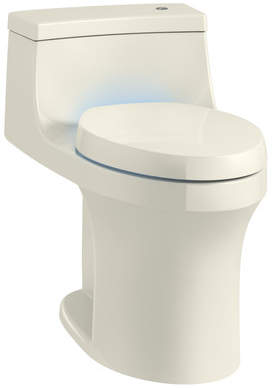 Kohler San Souci Souci Touchless with Purefresh Comfort Height 1-Piece Compact Elongated 1.28 GPF Toilet with Aquapiston Flushing Technology