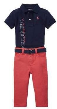 5bd4f5720 Ralph Lauren Baby Boy s Three-Piece Cotton Graphic Polo