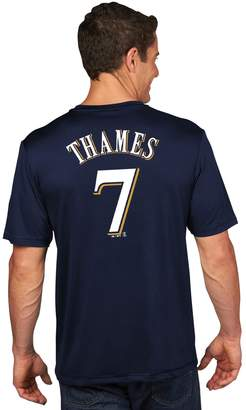 Majestic Men's Milwaukee Brewers Eric Thames Name and Number Tee
