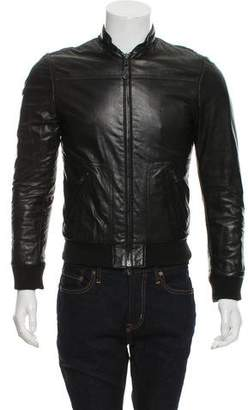 Balenciaga Leather Bomber Jacket