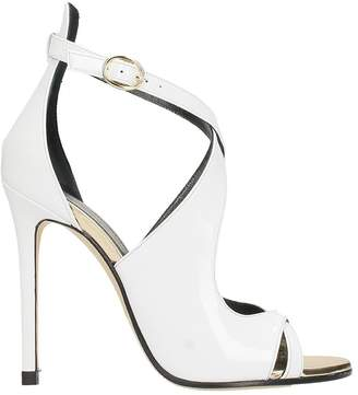 Marc Ellis Shiny White Leather Sandals