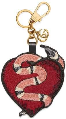 Gucci Heart and Kingsnake keychain
