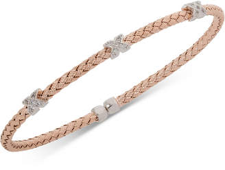 Giani Bernini X Cz Weave Bangle Stack Bracelet in Sterling Silver, Gold-Plated or Rose Gold-Plated Sterling Silver, Created for Macy's