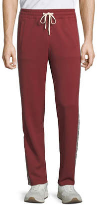 Bally Men's Animals Nylon Track Pants, Red