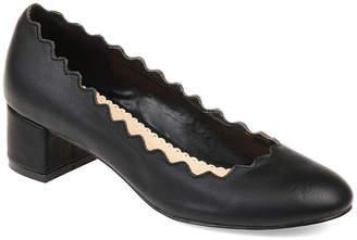 Journee Collection Womens Jc Maybn Pumps Slip-on Round Toe Kitten Heel