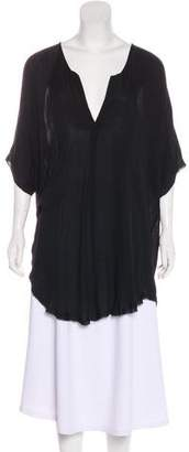 Raquel Allegra Short Sleeve Silk Tunic