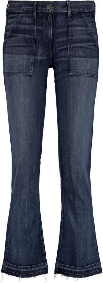3x13x1 Mid-rise faded bootcut jeans
