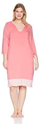 Arabella Women's Plus Size Tunic Nightgown Loungewear Caftan