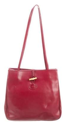 Longchamp Leather Tote Bag gold Leather Tote Bag