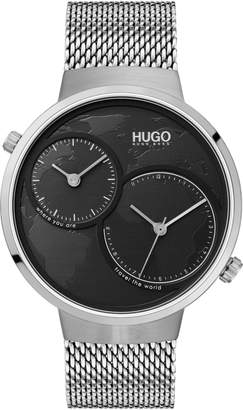 HUGO BOSS Dual Time Mesh Strap Watch, 42mm