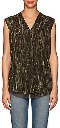 58809606f03c Pas De Calais Women s Shibori-Style Washed Blouse - Green