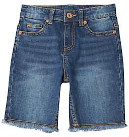 John Lewis & Partners Girls' Denim Knee Shorts, Blue