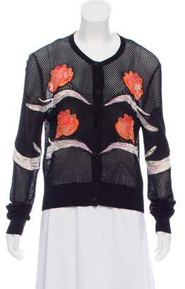 Opening Ceremony Floral Mesh Cardigan