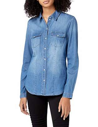 ... Only Women s onlROCK IT FIT MB DNM Shirt BJ7887 NOOS Blouse, Medium  Blue Denim, 1290a3967dd2
