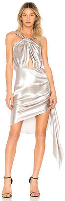 VATANIKA Hammered Backless Mini Dress