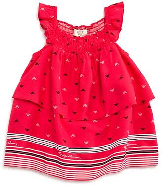 Armani Junior Girls' Tiered Logo Dress - Baby