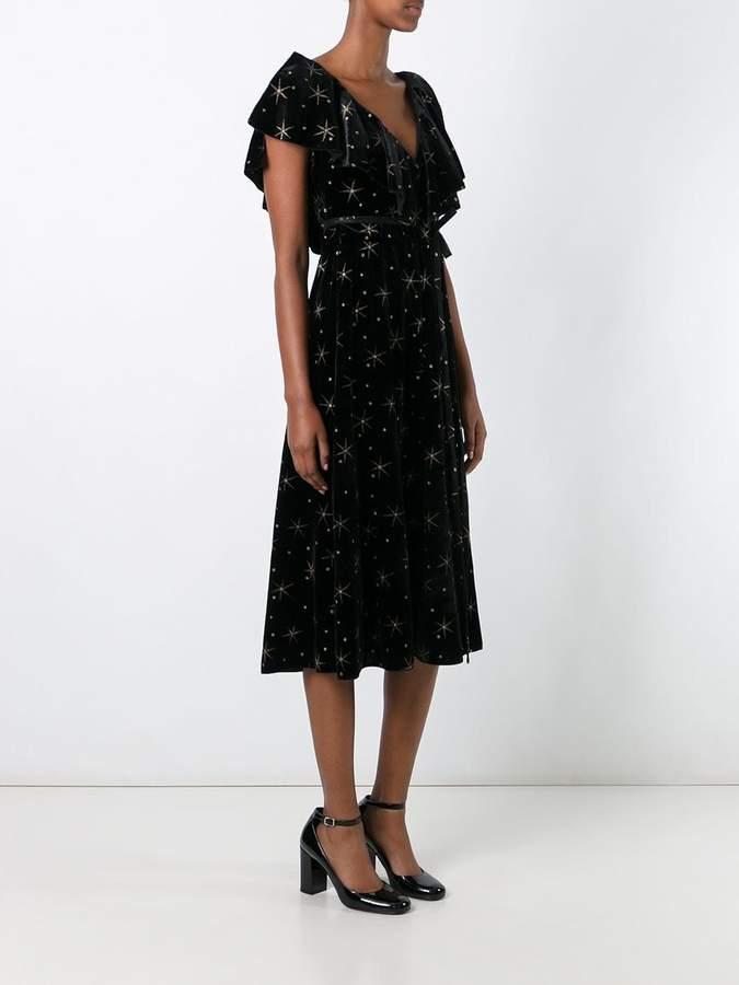 Valentino star embroidered dress