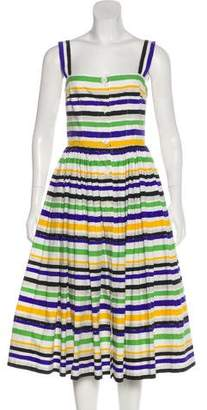 Dolce & Gabbana Striped A-Line Dress