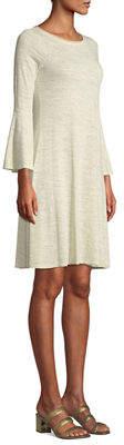 Three Dots Flutter-Sleeve T-Shirt Dress