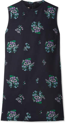 Gucci Cotton And Wool-blend Jacquard Top - Navy
