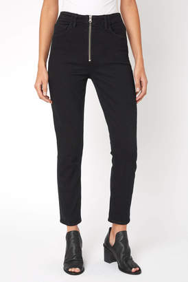 A Gold E Agolde AGOLDE Nico High Rise Zip Front Skinny Jean