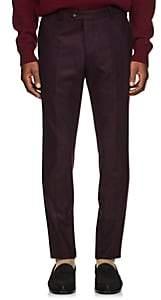 Officine Generale Men's Wool Flannel Trousers - Wine