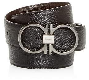 Salvatore Ferragamo Double Gancini Reversible Leather Belt