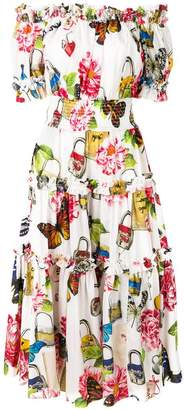 Dolce & Gabbana shirred butterfly dress