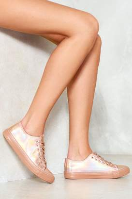 Nasty Gal Space Junk Holographic Sneaker