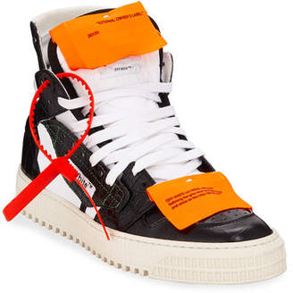 Off-White Low 30 Leather Platform High-Top Sneakers