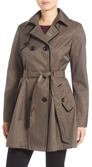 Betsey Johnson Women's Betsey Johnson Corset Back Trench Coat