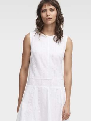 DKNY Eyelet Drop Waist Dress