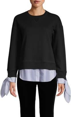 Derek Lam Combo Shirttail Sweater